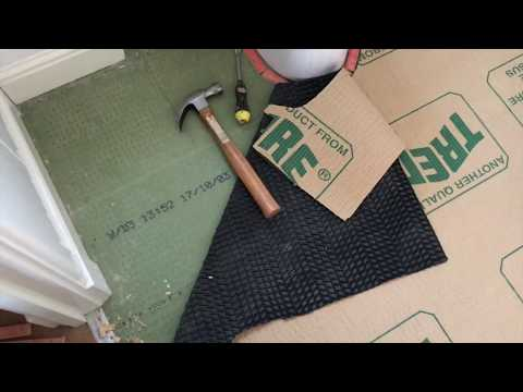 How To Lay Vinyl Lino Floor Covering Using Carpet Template - Step 1
