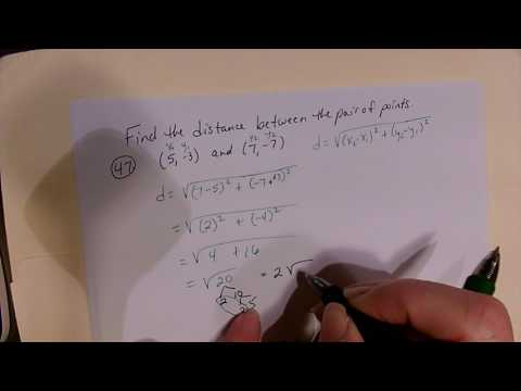 Distance formula and midpoint formula