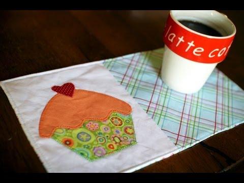 How to Make a Mug Rug- Cupcake Applique