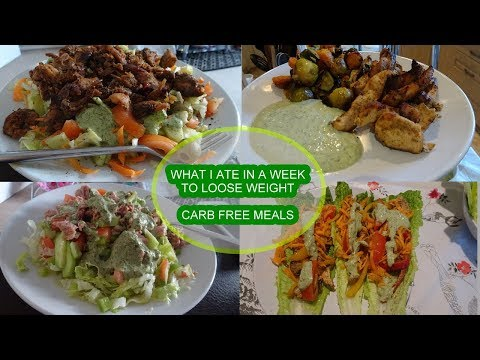 WHAT I ATE IN A WEEK (CARB FREE MEALS) | MARWA CHEBBI