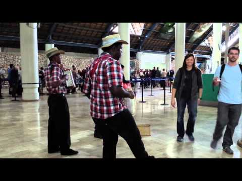 Entertainment at PUJ (Punta Cana, Dominican Republic) Airport (Feb. 22 2014)