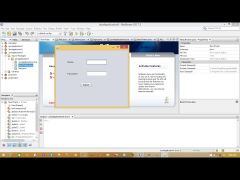 Create Login Form in Java using NetBeans and sql server