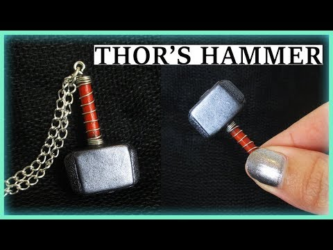 Thor:Ragnarok    Thor's Hammer, Polymer Clay Tutorial    Maive Ferrando