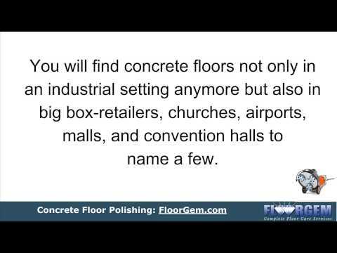 Concrete Floor Polishing - Make it shine