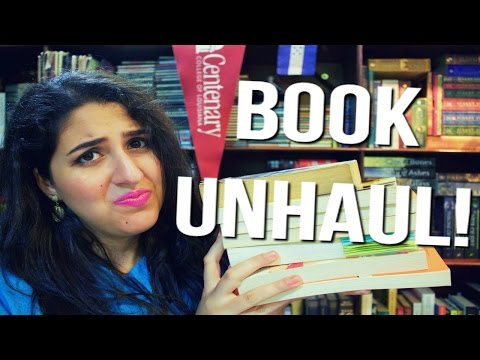BREAKING UP WITH MY BOOKS! | BOOK UNHAUL