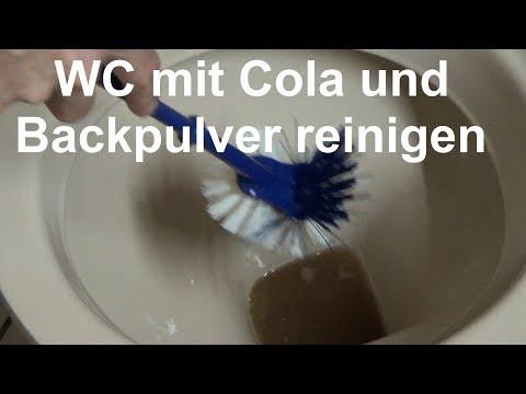 Toilette reinigen mit Cola und Backpulver WC mit Cola und Backpulver putzen