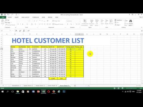 How to make bill for Guest house by Lyhong