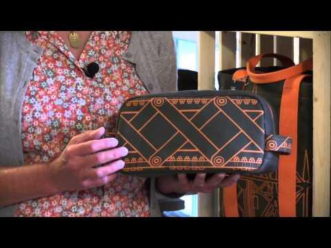 Dopp kit, designer canvas and denim bags, original art, custom designed bags, Duluth designer