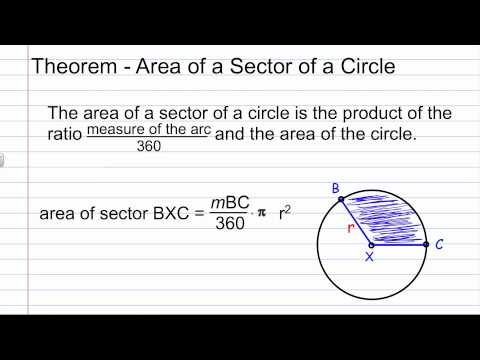 10-7 Geometry Area of Circles and Sectors.mov