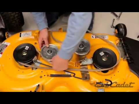 How to Change the Deck Belt on a Cub Cadet Riding Lawn Mower  Using Model 13WX90AS010
