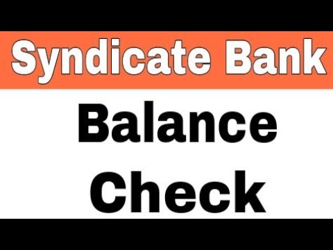 How To Check Syndicate Bank Balance by SMS And Missed Call