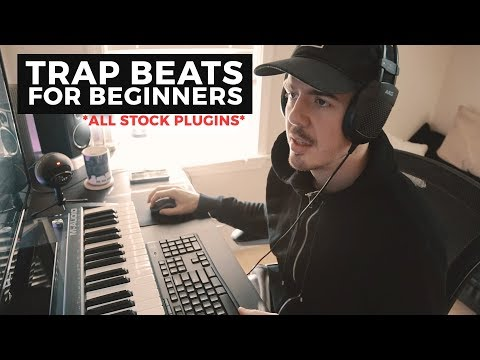 STOCK PLUGIN TRAP BEATS (FOR BEGINNERS) - How to make a beat FL Studio 12