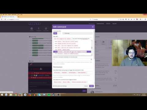 Getting !followage command to work in Twitch.tv chat using Moobot