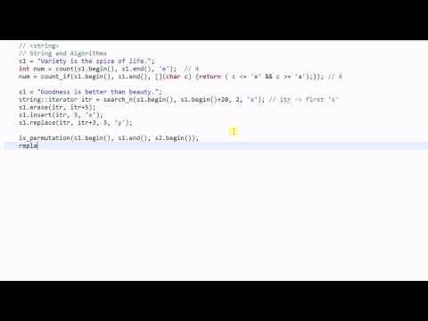 C++ String #5:  String and Algorithms