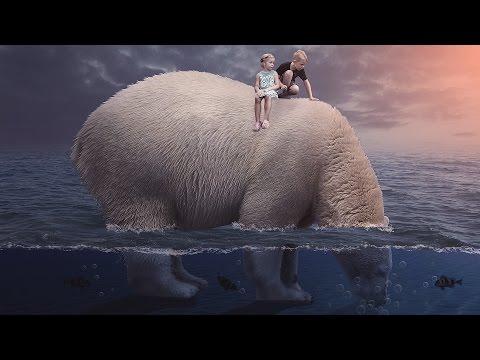 Photoshop Tutorial: Polar bear underwater photo manipulation