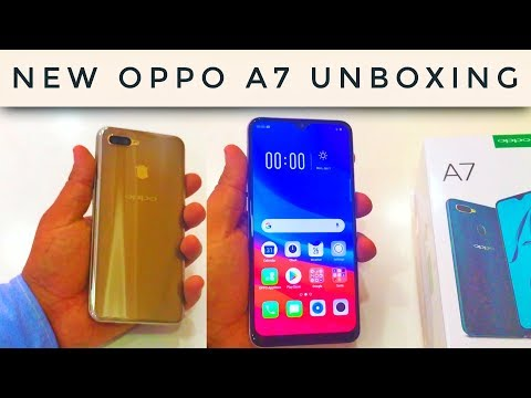Oppo A7 Unboxing New Launch Water Drop Notch