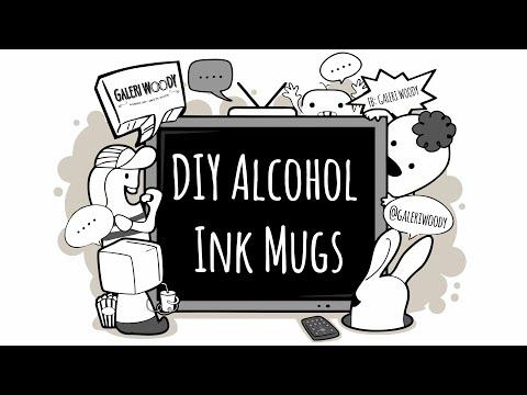 DIY Alcohol Ink Mugs