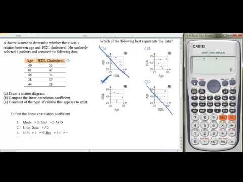 Finding Correlation Coefficient with a Casio fx-115ES Plus