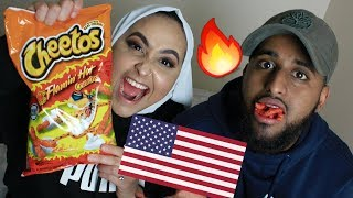 BRITISH TRYING AMERICAN CANDY!!!