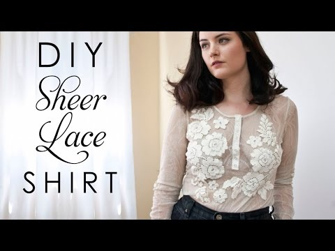 DIY Sheer Lace Shirt with Lining - Easy DIY Fashion