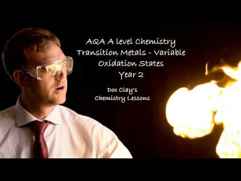 AQA A-level Chemistry - TMs and Variable Oxidation States