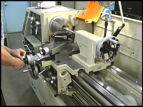 How do I basically make a thread on a shaft on the lathe?