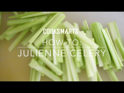 How to Julienne Celery   by @cooksmarts