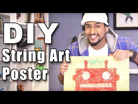 How to make a DIY String Art Poster