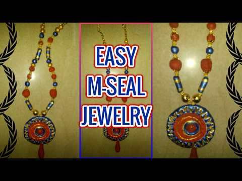 HOW TO MAKE BEAUTIFUL M-SEAL NECKLACE