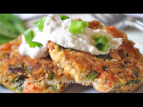 Best Louisiana Crawfish Cakes with Horseradish Sauce Or Healthy Crawfish Burger