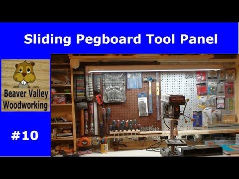 Sliding pegboard tool panel #10