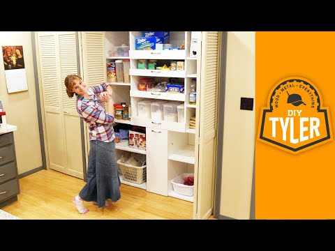Built In Pantry with Drawers | Kitchen Organization | How To