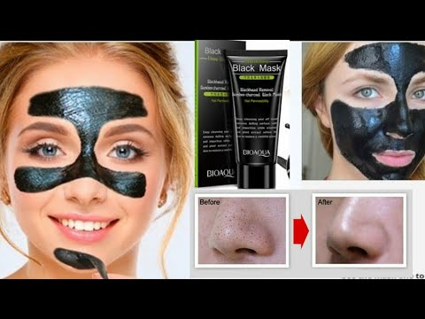 Deep cleansing black mask reviews | Bamboo Charcoal Face Mask | Look younger BY Removing Blackheads