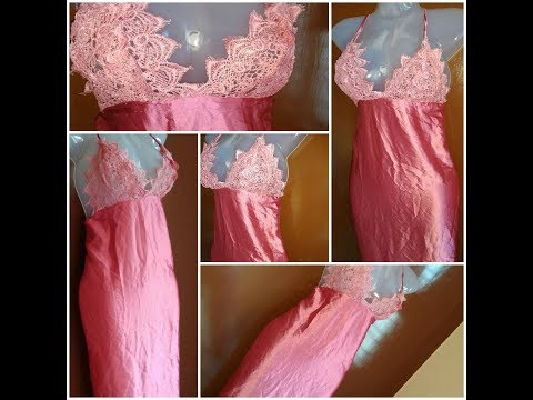 DIY  Night gown l Make a Lace nightgown  with no sewing machine