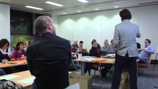 Design Thinking workshop with Justin Ferrell of Stanford d. School at The Irish Times