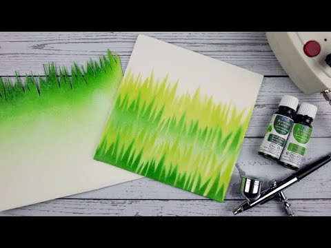 How To Use The PME Airbrush & Compressor Kit To Create A Grass Effect