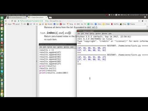 python3 lists more methods
