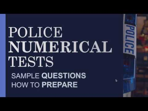 UK Police Officer Numerical Reasoning Tests - Police Recruitment Process