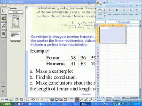 Make a Scatter Plot and find correlation