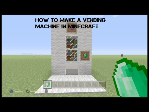 How to make a vending machine in Minecraft Xbox/Ps4/Pc