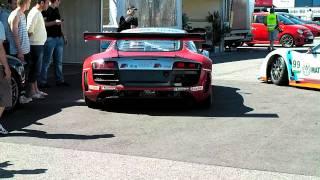Short Clip Of Audi R8 @ Mantorp Park Sweden.