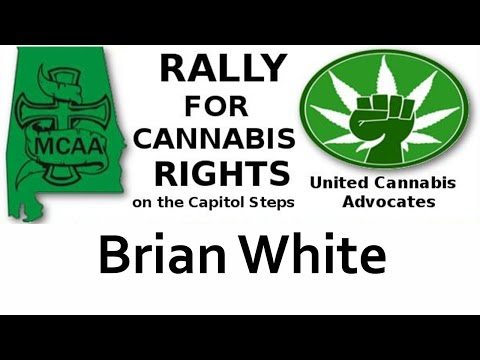 Brian White starts the rally for Cannabis Rights September 8, 2016