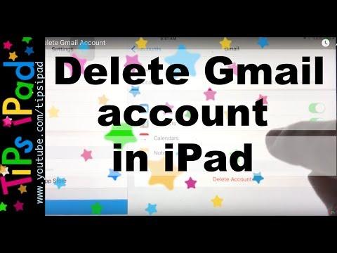 iPad  Gmail  Delete Gmail Account