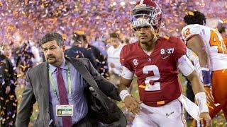Alabama QB Jalen Hurts has Clemson celebration on phone background