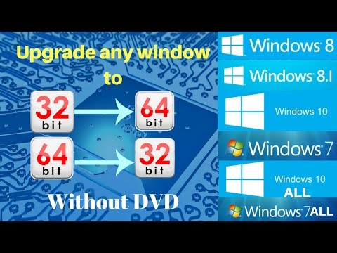 How to Upgrade Windows from 32 bit to 64 bit Directly without DVD. Free By Pendrive/usb.