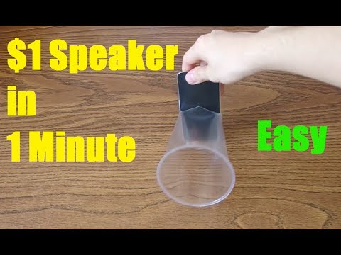 HOW TO MAKE YOUR IPHONE SPEAKER LOUDER WITH $1 DOLLAR