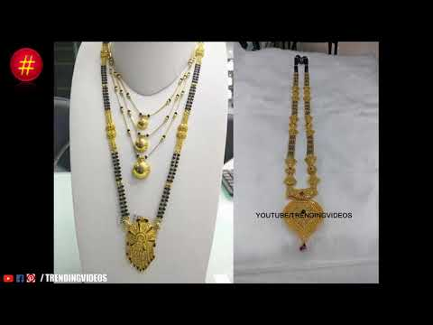 Latest New Designer Traditional Wear Gold Mangalsutra Designs With Address - She Fashion