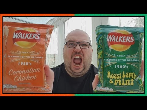 Walkers Coronation Chicken and Lamb & Mint Crisps Review