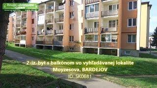 2-iz. Byt S Balkónom Vo Vyhľadávanej Lokalite - Moyzesova, Bardejov - Sk0681