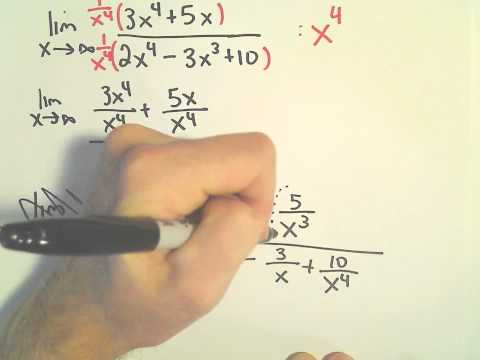 Horizontal Asymptotes, Limits at Infinity - Another Example #1